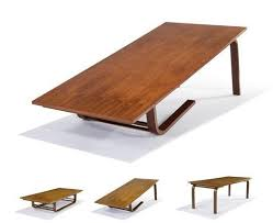 Original Neutra Designed Camel Table - $12,000. Convertible Coffee ...