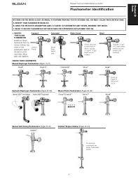 Flushometer Identification Guide Sloan Valve Company