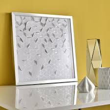 silver framed wall art silver origami framed wall art large silver photo frame wall art