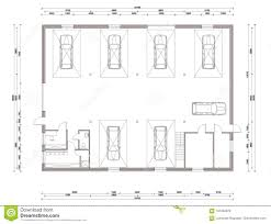 Petrol Station Layout Design Floor Plan Of The Small Car Service Station Stock