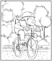 Small Picture Beautiful Bike Safety Coloring Pages Photos New Printable