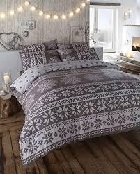 super king 100 brushed cotton grey duvet cover bed set by homemaker bedding