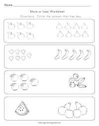 Free Kindergarten Math Worksheets Greater Than Less Worksheet More W