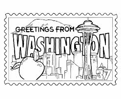 Small Picture USA Printables Washington State Stamp US States Coloring Pages