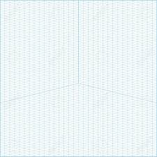 Vector Blue Wide Angle Isometric Grid Graph Paper Square Background