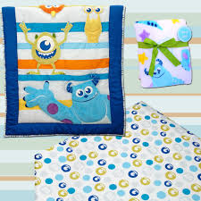 monsters inc monsters at play 3 piece crib bedding set by