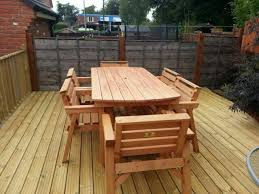 solid wood garden patio furniture 6 ft