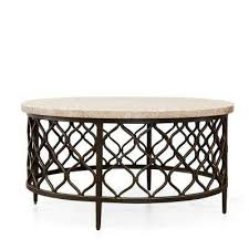 roland cream marble top cocktail table