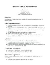 Research Assistant Resume Sample Resume Web
