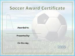 Free Soccer Certificate Templates Soccer Certificate Template Free 9902
