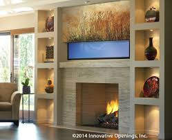 Hide your tv Hidden Behind Mirror Printed Shade Television Cover Innovative Openings Printed Shades Can Hide Your Tv