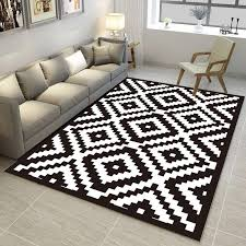 black and white geometric pattern carpet trend 3d printed rugs and carpets living room coffee table yoga sofa antiskid floor mat commercial flooring