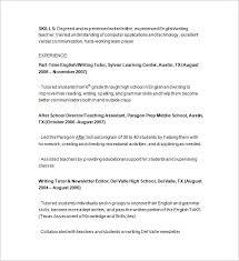 Tutor Resume Cool Tutor Resume Template Resume For Tutoring Onwebioinnovateco Template