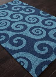 picture of jaipur coastal abstract pattern polypropylene blue indoor outdoor rug ci30