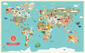 best of world map wallpaper b and q