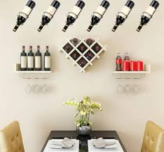 pack of 6 wall mounted wine racks red
