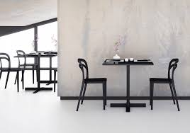contemporary table mdf square for restaurants people by nicola cacco design