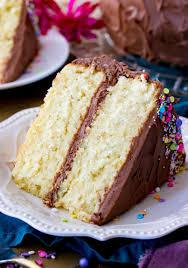 a slice of vanilla cake