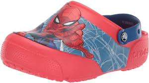 Spiderman Light Up Shoes Size 13 Crocs Kids Boys And Girls Spiderman Light Up Clog