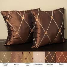 knife edge pillow. Plain Edge Helena 18inch Knife Edge Pillow Set Of 2 Intended