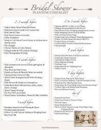 Bridal Shower Planning Checklist Printable Bridal Shower