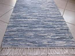 blue jean rug beautiful woven recycled denim uk