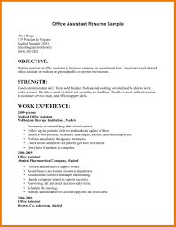 Resume Templates Sample For Administrative Assistant Job Office