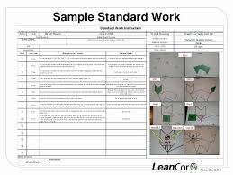 Work Instructions Examples Standardized Work Instruction Template Mathosproject