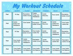 Monthly Calendar Schedule Insanity Workout Schedule Print A Workout Calendar
