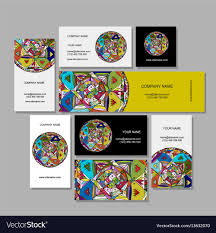 Business Cards Design Ethnic Mandala Royalty Free Vector