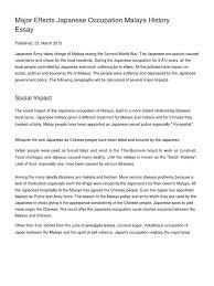 major effects ese occupation malaya history essay empire of major effects ese occupation malaya history essay empire of