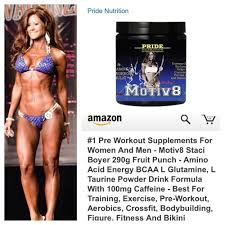 amazon pre workout supplement for women and men motiv8 250g bcca and glutamine for recovery endurance staci boyer motiv8 fruit punch preworkout