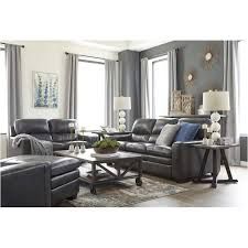 Ashley leather living room furniture Antique Home Living Furniture 1570238 Ashley Furniture Gleason Charcoal Living Room Sofa
