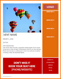 Template For Event Flyer 8 Event Brochure Template Microsoft Word Business Opportunity Program