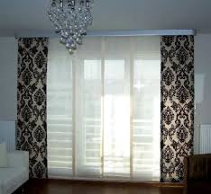 Simple Black And White Curtains Blackwhite Patterned Sheer Curtain Intended Design