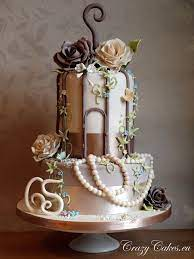 Very Cool by mayra | Bird cage cake, Vintage wedding cake decorations, Cake