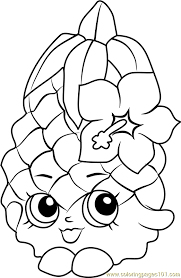 Small Picture Pineapple Crush Shopkins Coloring Page Free Shopkins Coloring