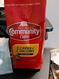 You can rink it hot or cold and you just add water to make a cup. Community Coffee Coffee And Chicory 12 Ounce Bag Walmart Com Walmart Com