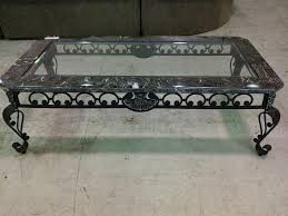wrought iron glass coffee table decorative