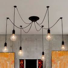 vintage industrial style diy chandelier retro pendant lamp edison ceiling light