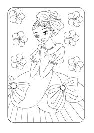 リボンのお姫様 塗り絵 育児も遊びも仕事も頑張る女のブログ