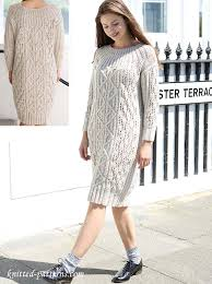 Knit Dress Pattern Impressive Cable Dress Knitting Pattern Free