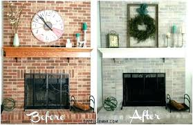 whitewashed fireplace brick brick fireplace makeover white washed brick fireplace before and after whitewash brick fireplace