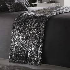 dazzle charcoal grey bed runner