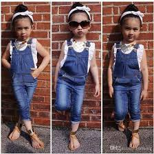 Pants Shirt 2019 Baby Girl Clothing Set Vest Tops Shirt Jeans Pants Boutique Kids Clothes Toddler Outfit Infant Suit From Formore 13 27 Dhgate Com
