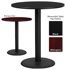 flash furniture 36 inch round bar table with reversible laminate top