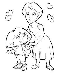 Coloriage A Imprimer Dora Et Sa Maman Gratuit Et Colorier Jeux De Coloriage De Dora L