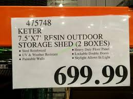 outdoor storage sheds costco. costco-475748-keter-7.5-7-resin-outdoor-storage- outdoor storage sheds costco a