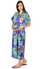 Bimba Nursing Kaftan Gown Maternity Night Hospital Delivery Gown