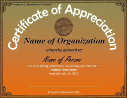 free templates for certificates of appreciation certificate of appreciation free download ideal vistalist co